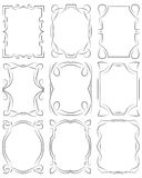 Set of frames design elements. Editable vector file Royalty Free Stock Photo