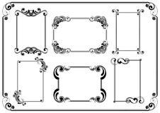Set of frames. Design om white background Stock Photos