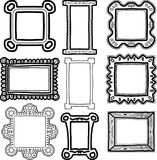 Set of frames doodles Royalty Free Stock Photo