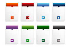 Set of frames with flat icons for your text Royalty Free Stock Photo