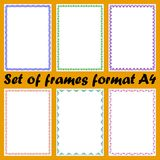 Set of frames format A4 Stock Photography
