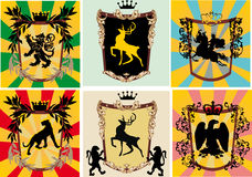 Set of frames with heraldic elements Royalty Free Stock Photography