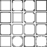 Set of frames Royalty Free Stock Photo