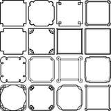 Set of frames Stock Photo