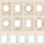 Set frames, labels, tags, invitations for your text Royalty Free Stock Image