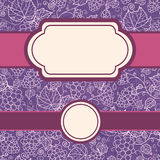 Set of frames with lace grape vine seamless Royalty Free Stock Photos