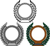 Set of frames with laurel wreaths Stock Photo