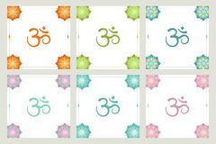 Set of frames om symbol flowers Royalty Free Stock Photography