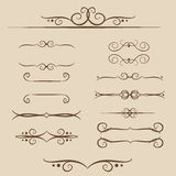 A set of frames, ornaments monograms for Text and web in vector. A set of frames, ornaments monograms for Text and web Royalty Free Stock Images