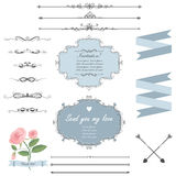 A set of frames and page dividers Royalty Free Stock Image