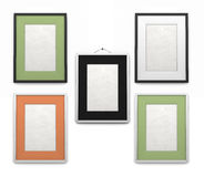 Set of frames for paintings of different colors Stock Photos