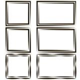 Set of frames for picture photos, vector empty speech bubble text, quote square, box dialogue bubble comic element. Bracket, template design page, paragraph Stock Photo