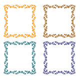 Set of frames. Set of the same frames in various colors Royalty Free Stock Photography