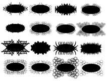 Set of frames silhouette vector. Set of framework design elements swirls vector silhouette Stock Images