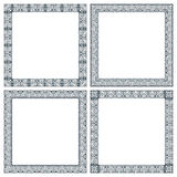 Set of frames in techno style. Set of four frames in techno style Royalty Free Stock Photography