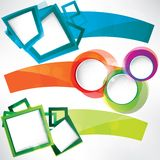 Set of frames for text Royalty Free Stock Photo