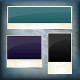Set of frames for text on vintage background Stock Image