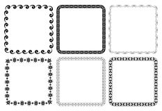 Set of frames - vector squares Stock Image