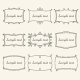 Set frames in vintage style. Set of vintage frames for your design vector illustration