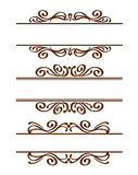 Set frames .Vintage .Well built for easy editing.Brown. Stock Image