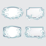 Set of frames with waves Royalty Free Stock Photos