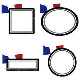Set france. Set of grunge rubber stamps with the flag of France, vector illustration Royalty Free Stock Image