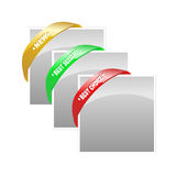 Rubber band corner banner treatments royalty free stock image