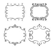 Set of freehand vintage frames. Vector illustration isolated on white Royalty Free Stock Images
