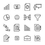 Set of freelance thin line icons. Royalty Free Stock Photo