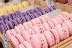 Set of french cookies macaroons Stock Images