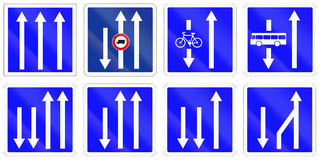 Set of French information road signs Royalty Free Stock Image