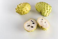 Set of Fresh Annona, Custard Apple, Cherimoya, Sugar Apple stock images