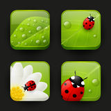 Set of fresh app icons Stock Photography
