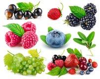Set fresh berries healthy food fruit stock images