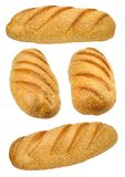Set of fresh bread with many sesame seeds Royalty Free Stock Images