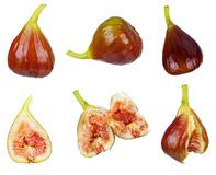 Set of fresh fig Stock Photography