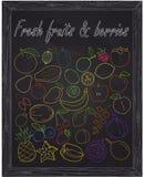 Set of fresh fruits & berries Stock Photo