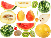Set of fresh fruits and berryes Royalty Free Stock Photos