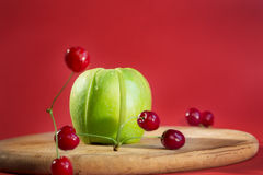 Set of fresh fruits. Stock Images