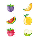 Set of fresh fruits vector Stock Images