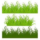 Set of fresh green grass seamless Royalty Free Stock Image