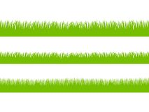 Set of Fresh Green Grass in Three Seamless Versions Royalty Free Stock Photography