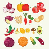 Set of fresh and healthy food. Royalty Free Stock Photos