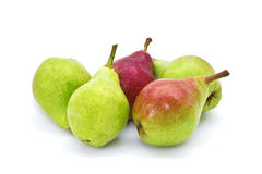 Set of fresh juicy pears on white background Royalty Free Stock Photography