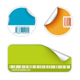 Set of fresh labels with bar codes Stock Photography