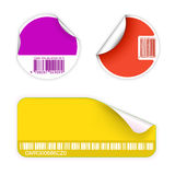 Set of fresh labels with bar codes Royalty Free Stock Image