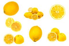 Set of fresh lemon images Royalty Free Stock Photography
