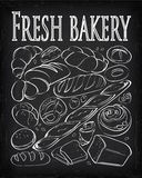 Set of fresh and organic  bakery products Royalty Free Stock Photography
