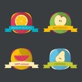Set of fresh organic labels Stock Image