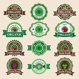 Set of Fresh Organic Labels and Elements. Royalty Free Stock Photography